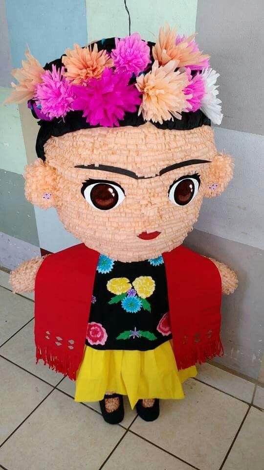 Piñatas para fiesta de Frida Kahlo