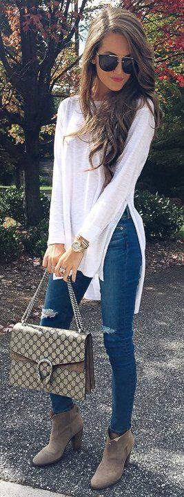 12 Looks con jeans y blusas blancas para que puedeas transformar este outfit básico de la Moda12 Looks con jeans y blusas blancas para que puedeas transformar este outfit básico de la Moda