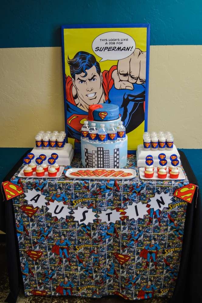 Cumpleaños de Superman para niños