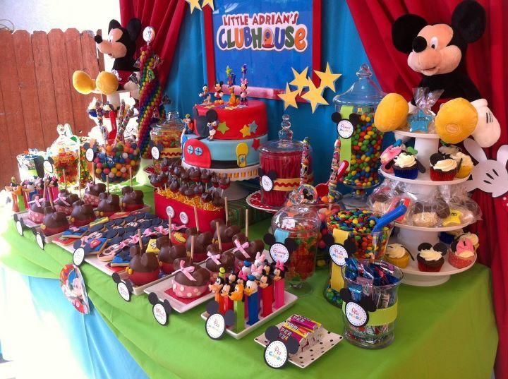 Decoración de la Casa club de Mickey para cumpleaños