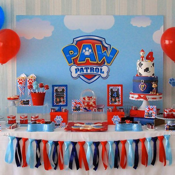 Decoraci n de paw patrol para cumplea os for Decoracion en pared para ninos