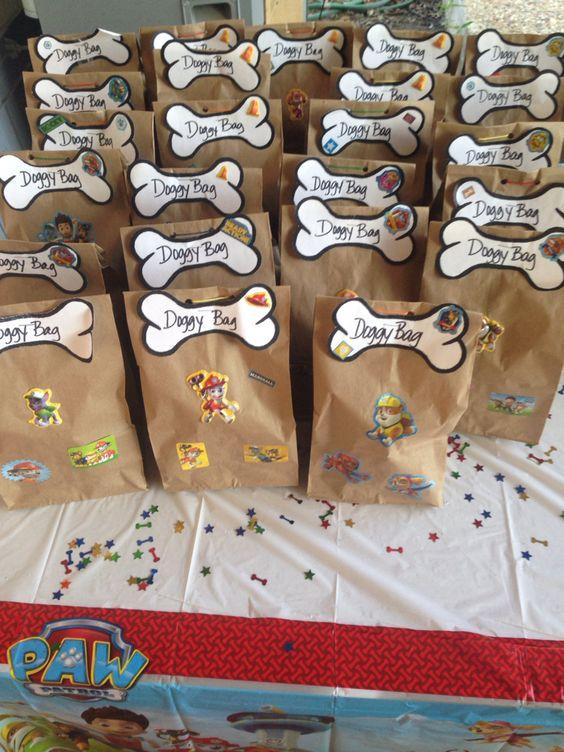 Dulceros o Bolos para fiesta de Paw Patrol para niño