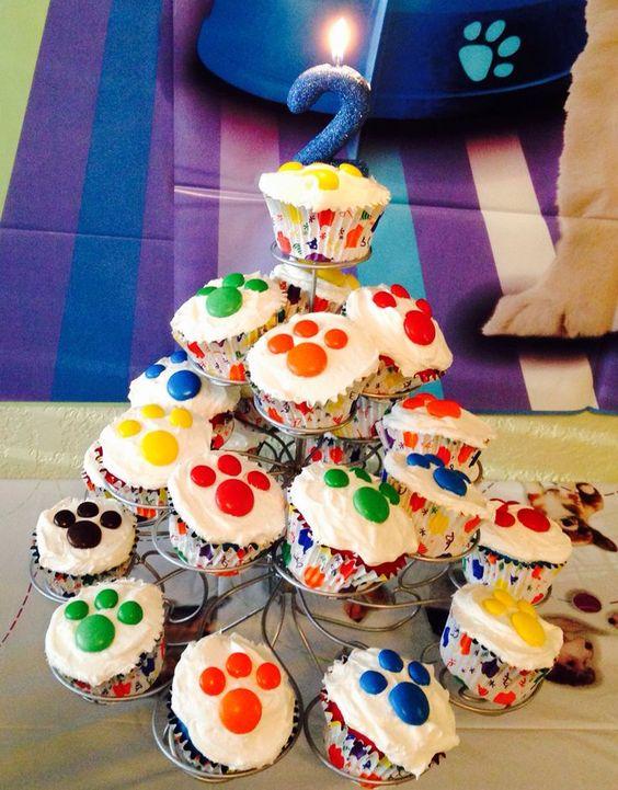 Cupcakes para Fiesta de Paw Patrol para niño