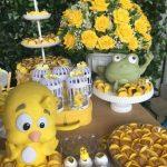 Decoración para cumpleaños de pollito