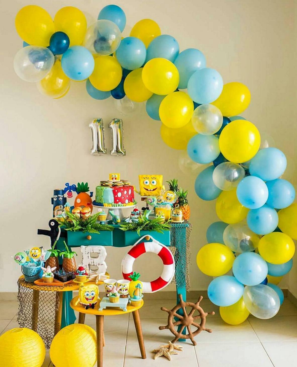 Decoraci n para fiesta de cumplea os de bob esponja - Decoracion de cumpleanos infantiles ...