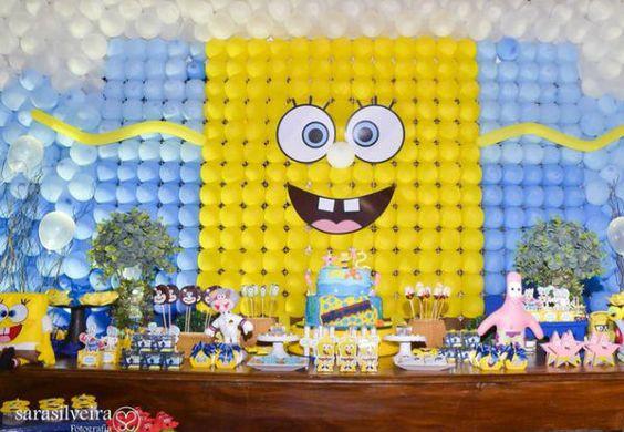 decoracin para fiesta de cumpleaos de bob esponja