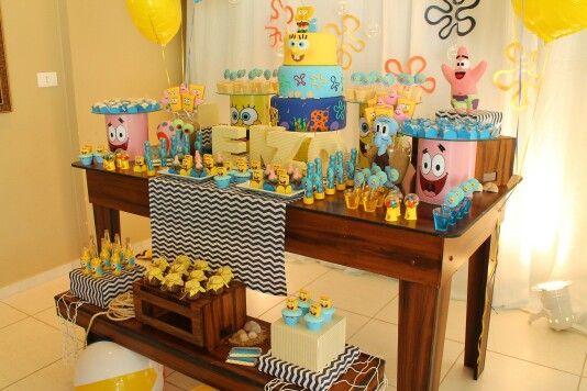 Decoracion para fiesta de cumplea os de bob esponja 25 decoracion de fiestas cumplea os - Decoracion bob esponja ...