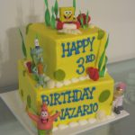 Decoración para fiesta de cumpleaños de Bob esponja