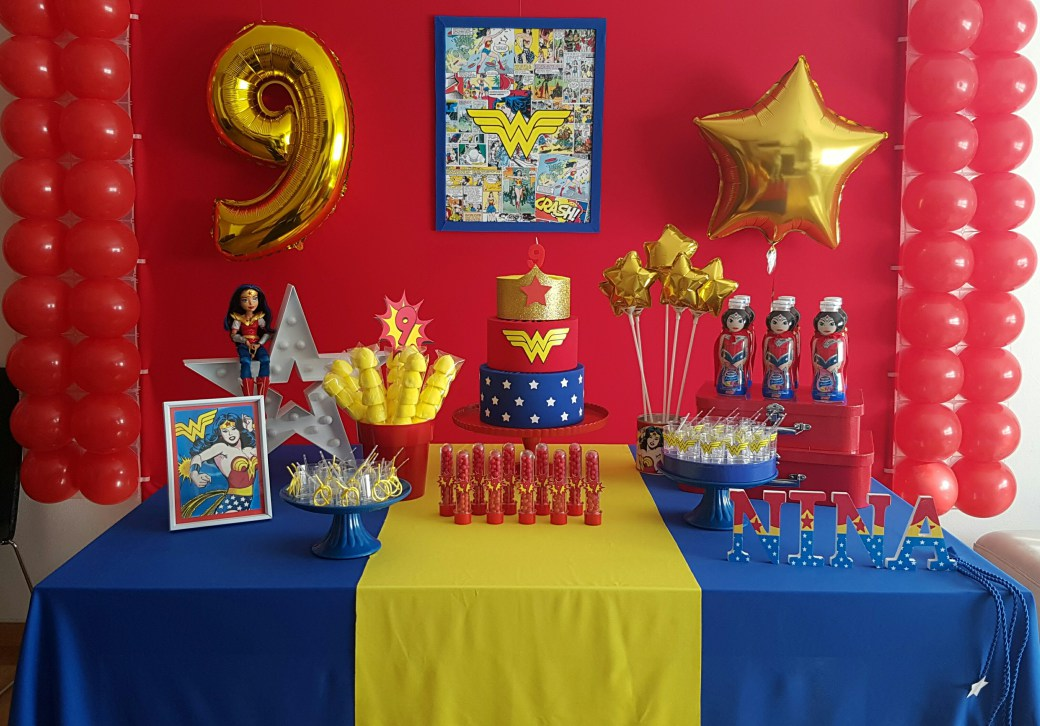 Ideas para decorar una fiesta infantil mujer maravilla - Ideas decoracion fiestas ...
