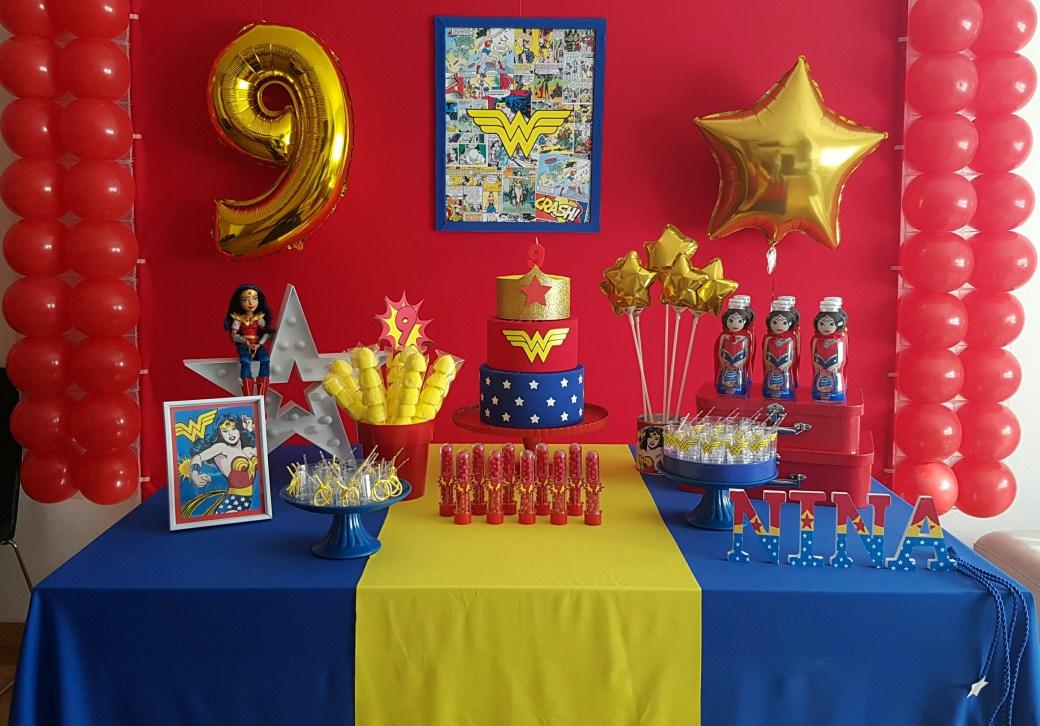 Ideas para decorar una fiesta infantil mujer maravilla - Ideas fiesta cumpleanos infantil ...