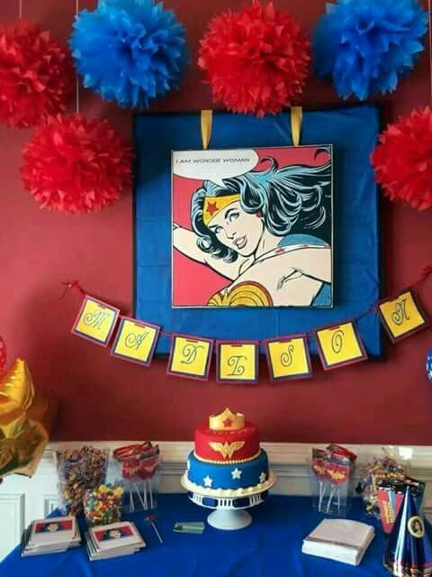 Ideas para decorar una fiesta infantil mujer maravilla for Decoracion infantil barata