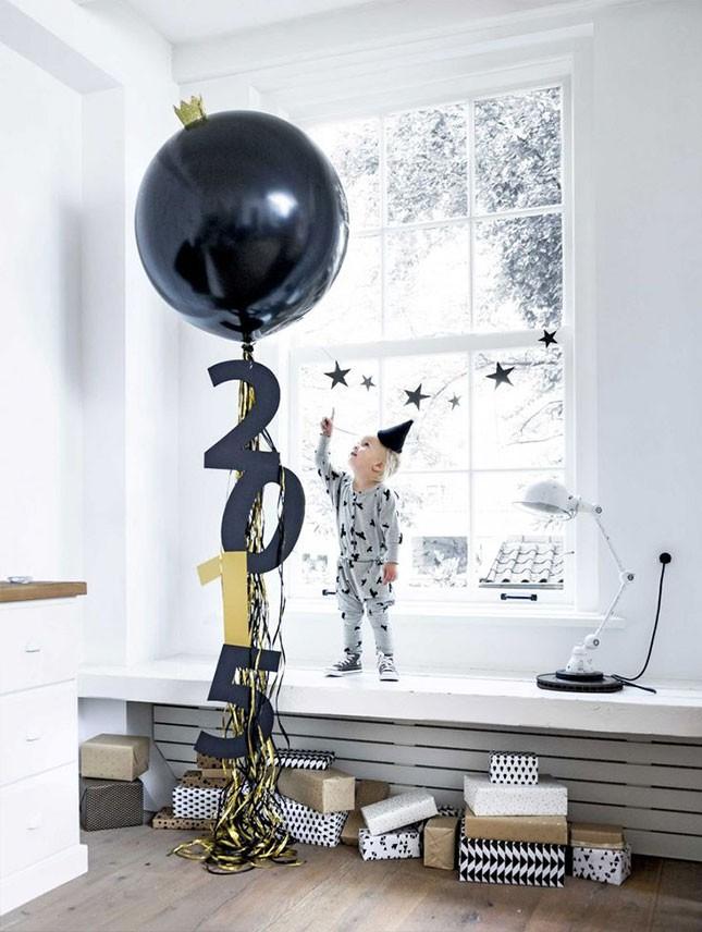 Ideas para decorar con globos año nuevo
