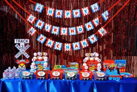 Ideas para fiesta de Thomas y sus amigos