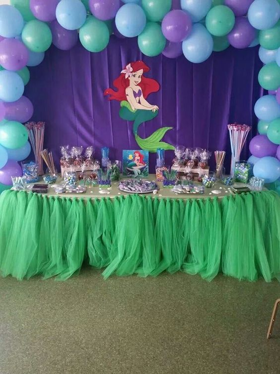 Ideas para fiesta tematica de la sirenita 24 - Las mesas fiestas 2017 ...