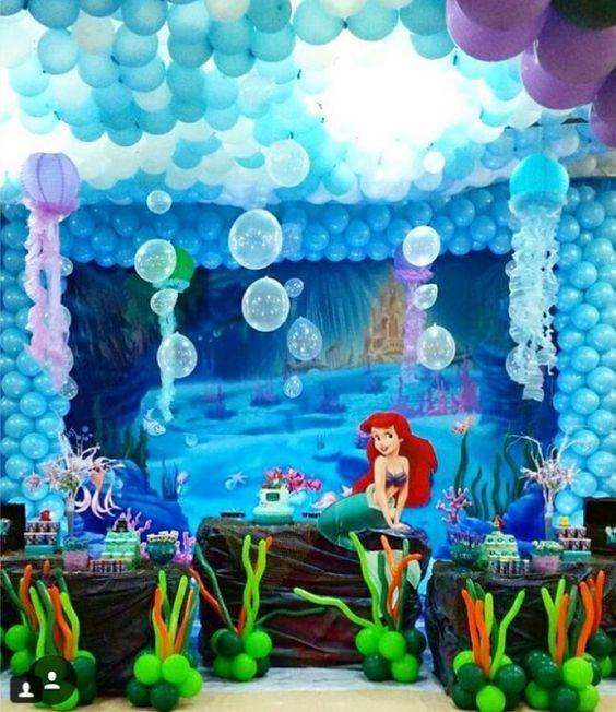 Ideas Para Fiesta Tematica De La Sirenita 31 Decoracion