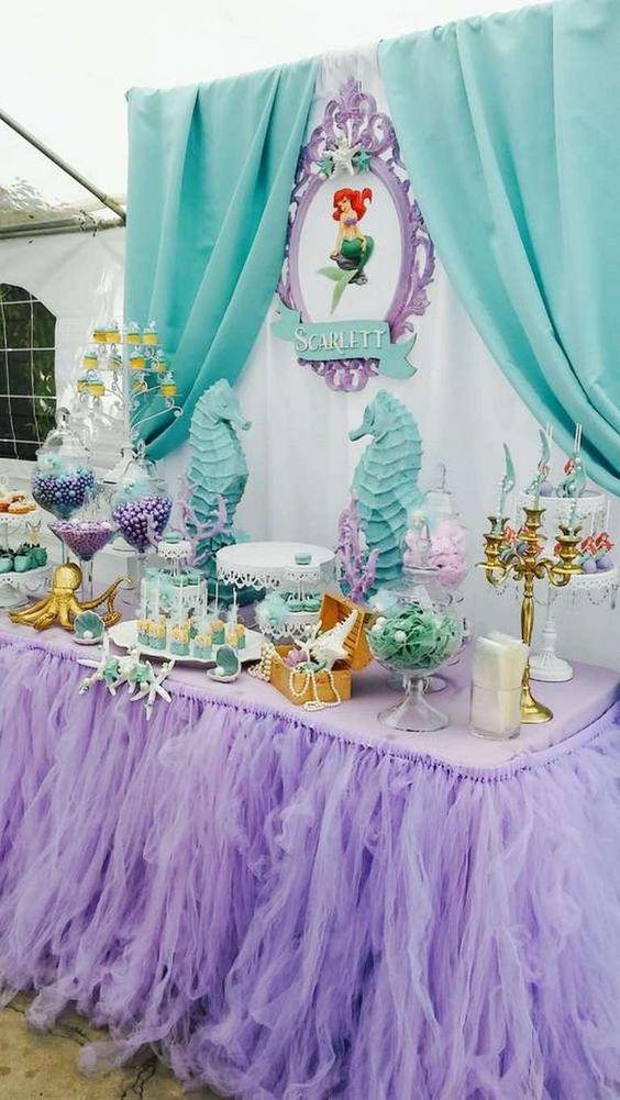 Ideas Para Fiesta Tematica De La Sirenita 32 Decoracion
