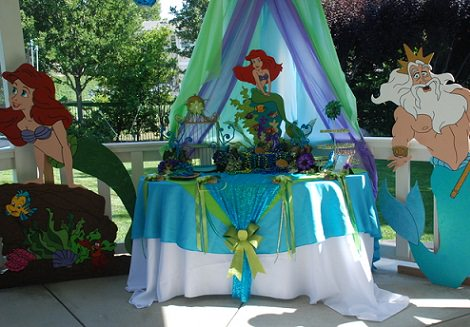 Ideas para fiesta tematica de la sirenita 42 - Las mesas fiestas 2017 ...
