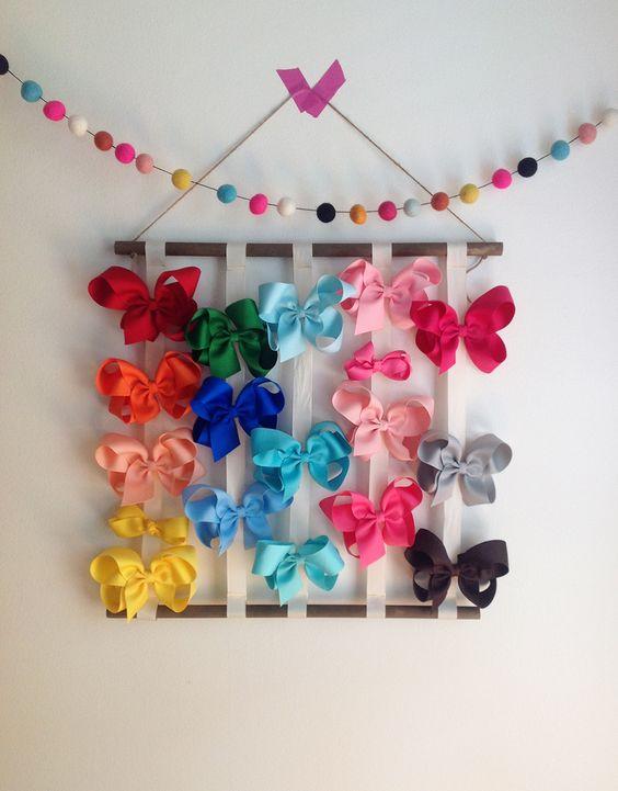 Ideas para organizar los moños de tus hijas
