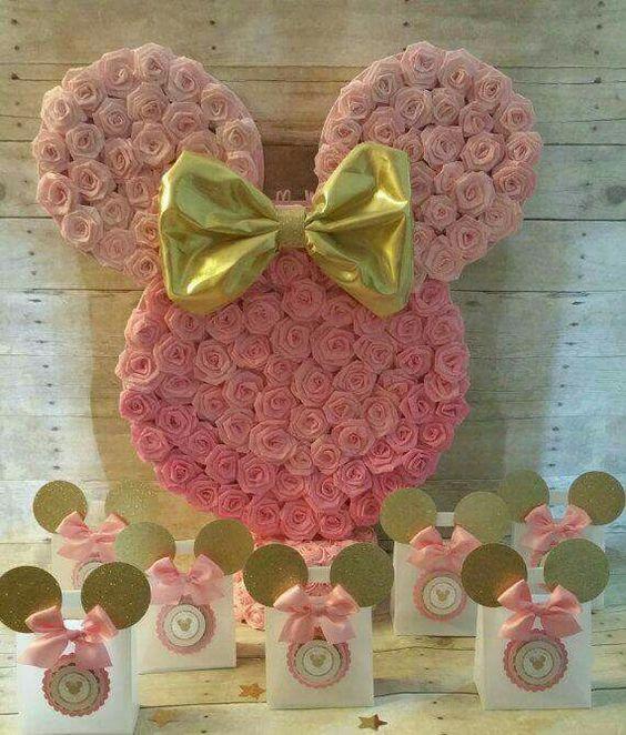 Fiesta tem tica de minnie en rosa y dorado - Le blog de mimi ...