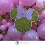 Fiesta Temática de Minnie en Rosa y Dorado