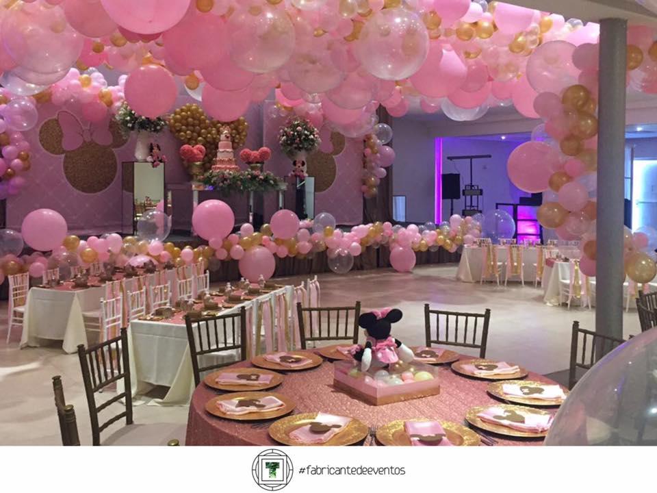 Fiesta tematica de minnie en rosa y dorado 29 for Decoracion de cumpleanos rosa y dorado