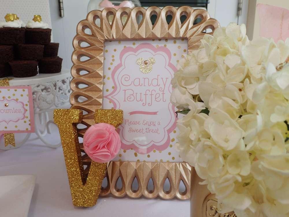 Fiesta tematica de minnie en rosa y dorado 4 for Decoracion de cumpleanos rosa y dorado
