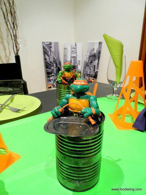 Centros de mesa para fiesta de tortugas ninja