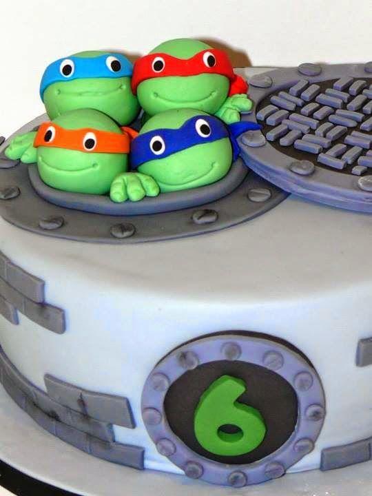 Pasteles para fiesta de las tortugas ninja