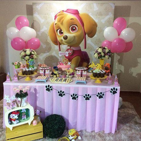 Fiesta infantil de paw patrol para ni a for Decoracion para fiesta de cumpleanos de nina