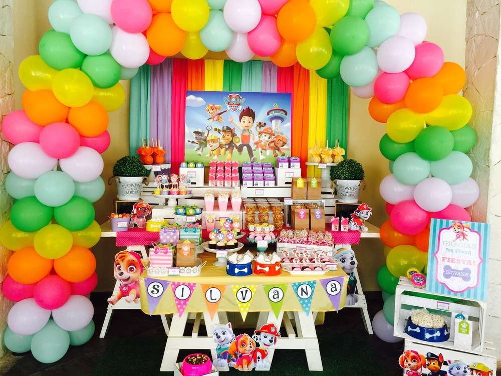 Fiesta infantil de paw patrol para ni a for Decoracion fiesta cumpleanos nina