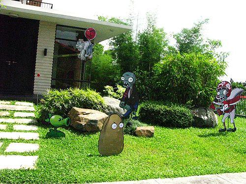 decoracion de jardines para fiesta de plants vs zombies