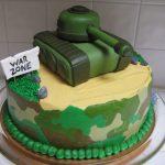Decoración militar para cumpleaños