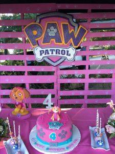 decoracion sencilla para fiesta de paw patrol para nina