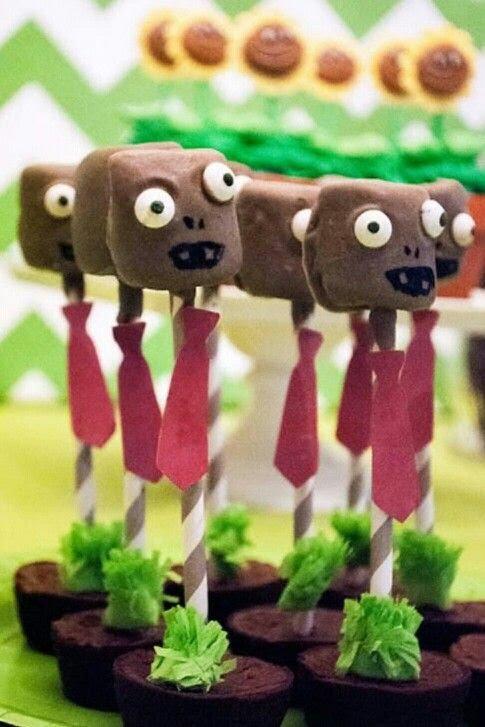 deliciosos bocadillos para una fiesta de plants vs zombies