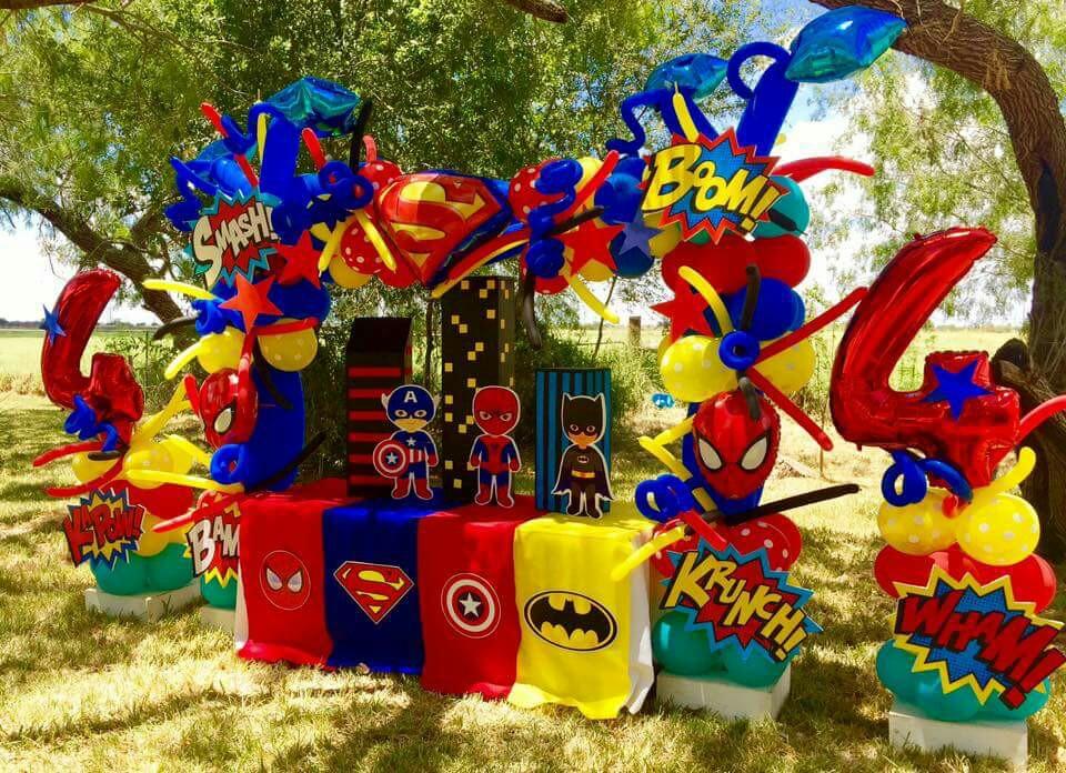 Fiesta de superheroes para ni os 28 decoracion de fiestas cumplea os bodas baby shower - Decoracion fiestas infantiles para ninos ...