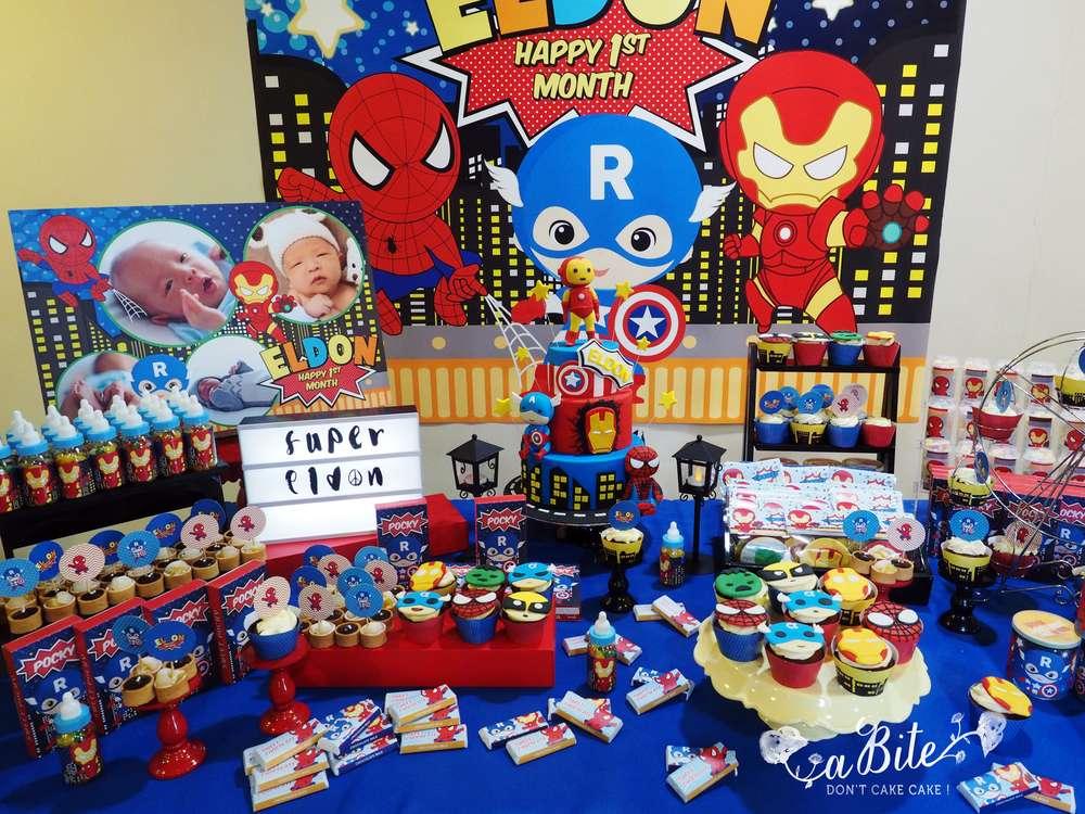 Fiesta de superheroes para ni os 31 decoracion de - Decoracion fiestas infantiles para ninos ...