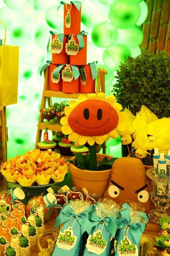 ideas de decoracion para tu fiesta de plants vs zombies