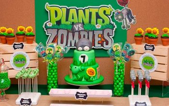 Decoración para cumpleaños de Plants vs Zombies