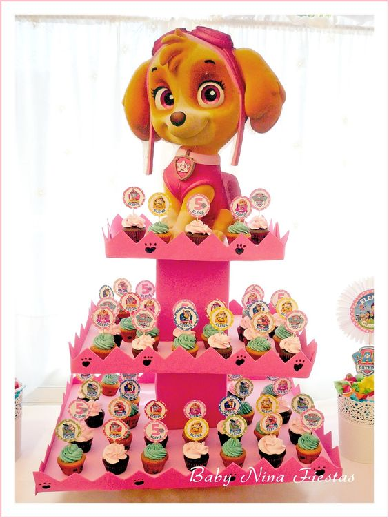 ideas para cupcakes de paw patrol