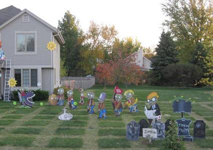 ideas para decorar tu jardin con el tema plants vs zombies