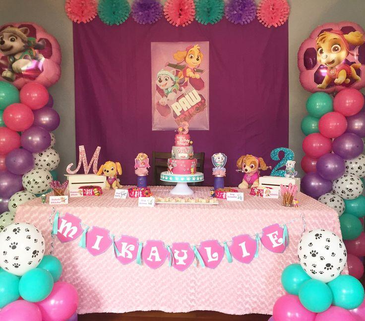 ideas para decorar un cumpleaños de paw patrol para nina