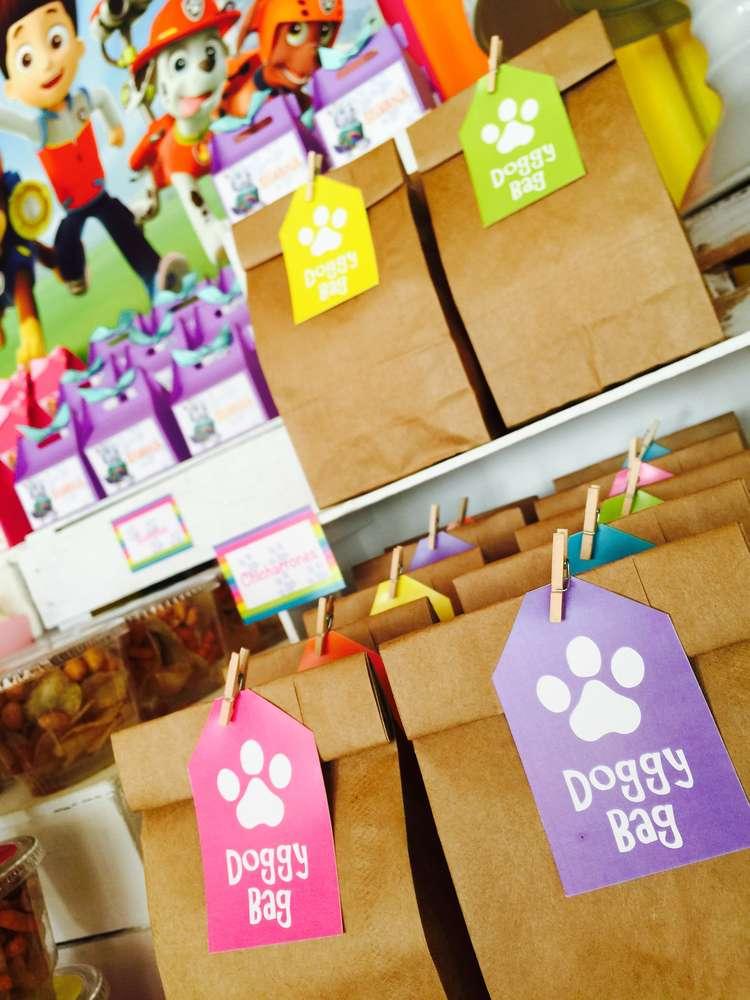 ideas para dulceros de una fiesta de paw patrol