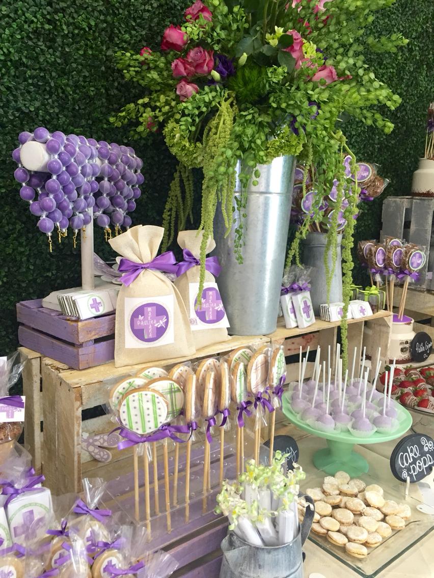 Ideas para primera comunion de nina 7 decoracion de - Ideas para mesas dulces de comunion ...