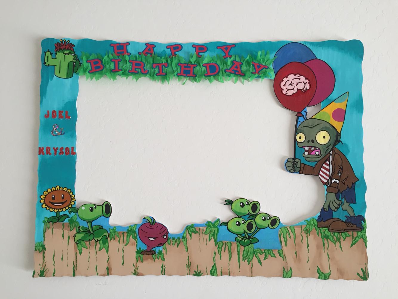 Decoraci n para cumplea os de plants vs zombies ideas - Marcos para plantas ...