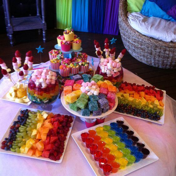 Ideas para un cumpleanos de arcoiris 15 decoracion de - Ideas para decorar fiestas de cumpleanos ...