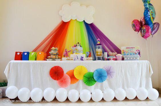 Ideas Para Un Cumpleanos De Arcoiris 9 Decoracion De Fiestas