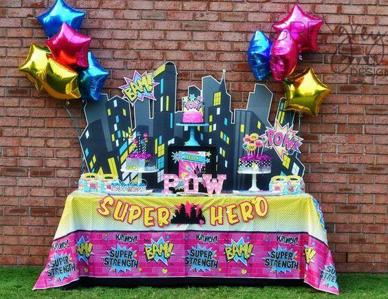 Ideas para un cumpleaños de Superhero girls