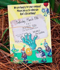 invitaciones estilo plants vs zombies