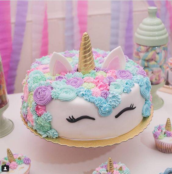 Los mejores disenos en pasteles de unicornios 2 for Diseno de mesa de unicornio