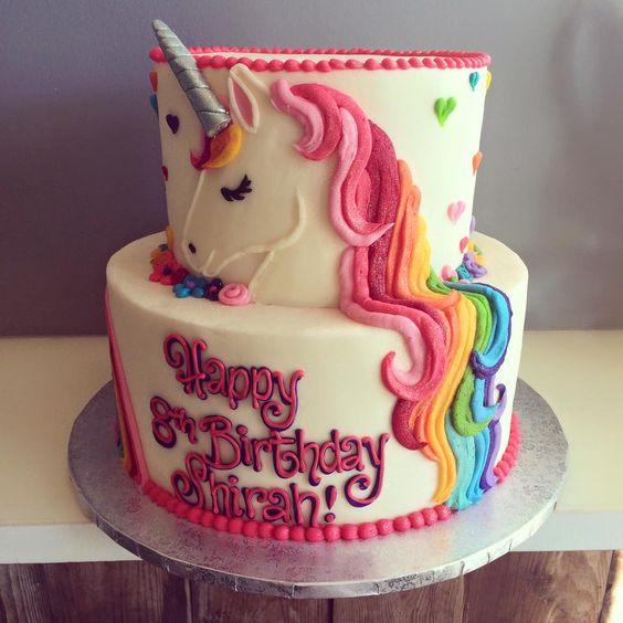 Los mejores disenos en pasteles de unicornios 24 for Diseno de mesa de unicornio